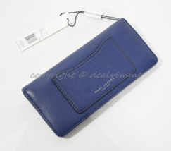 NWT MARC By Marc Jacobs M0008170 Recruit Open Face Wallet in Dark Blue - $139.00