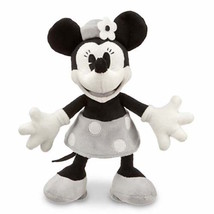 "disney parks 7"" minnie mouse black and gray plush new with tag - $19.82"