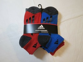 Adidas Youth Cushioned Climalite Stain Resistant Socks Low Cut 6 Pair 13C - $21.36