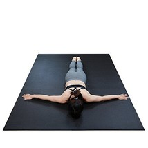 """RevTime Extra Large Exercise Mat 7 x 5 feet 84"""" x 60"""" x 1/4"""" 6 mm Thick & High D"""