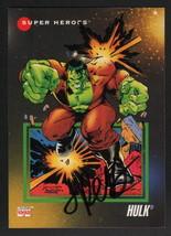 Jimmy Palmiotti SIGNED 1992 Marvel Universe Art Trading Card ~ Incredible Hulk - $14.84