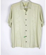 Tommy Bahama Mens Button Down Shirt Size XL Short Sleeve 100% Silk - $29.21