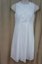 Anne Klein Dress Sz 10 White Geometric Print Sleeveless Cocktail Casual ... - $48.51