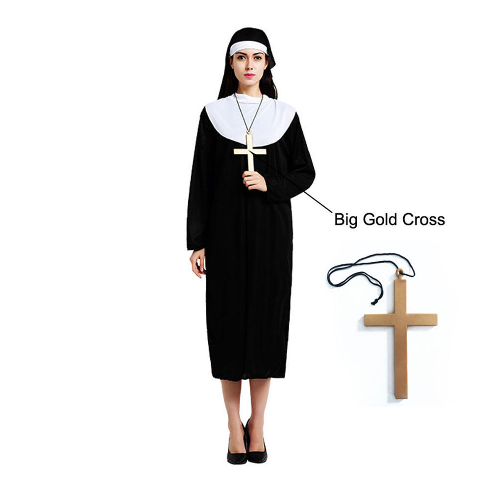 Primary image for The Horror Nun Costume Dreadful Women Adult Cosplay Robe Dress Suit Halloween