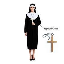 The Horror Nun Costume Dreadful Women Adult Cosplay Robe Dress Suit Hall... - $14.99