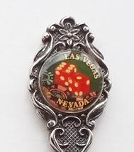 Collector Souvenir Spoon USA Nevada Las Vegas Dice Cameo Perfection Plate - $6.99