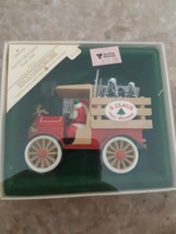 Hallmark Santa's Deliveries 1984 Ornament Sixth in Collectible Series Ch... - $12.82