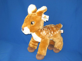 "2019 UNIPAK BROWN SMALL FAWN DEER WHITE SPOTS PLUSH BEANBAG TOY 11"" NEW - $14.85"