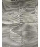 West Elm Alternating Geo Jacquard frost gray King sham(1) - $23.29