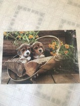 Rose Art Prestige Jigsaw Puzzle - Beagle Puppies Dogs 1000 Pieces Complete - $14.89
