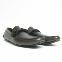 S-2218223 Neu Salvatore Ferragamo Granprix Hickory Leder Fahrer Schuhe G... - $346.06