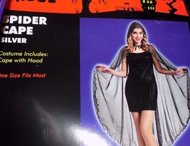 NEW Spider Web Metallic Cape Robe Silver - Womens One Size - FREE SHIP - $14.99