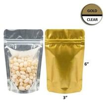 "Mylar Bag Vista Gold/Clear  1/4 Oz 7 Grams 3 3/4 x 6 3/16"" 100 500 or 1000 - $46.52+"