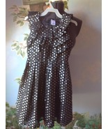 Gymboree Girls Dress Black & Silver Polka Dot Sleeveless Occasion Dress ... - $29.69