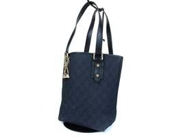 Auth GUCCI GG Pattern Canvas Leather Black Shoulder Bag GS16492L - $169.00