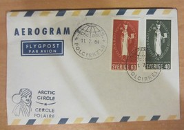 SWEDEN  ARCTIC CIRCLE CANCELLATION  POSTAGE / ENVELOPE  1964 - $33.25