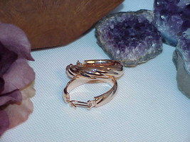 "Qvc Bronzo Italy Bronze Rose gold Oval Twist Hoop earrings New Box 1.5"" - $29.69"
