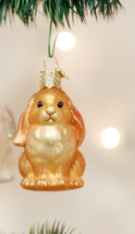 OLD WORLD CHRISTMAS BABY BUNNY GLASS CHRISTMAS ORNAMENT 12365 STYLE 1 - $8.88