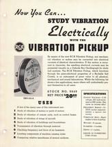 1940s RCA Dealer Data Spec Sheet - Electric Vibration Pickup  - Parts Ca... - $4.95