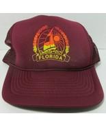 Rare VTG Florida Sailboat Sunset Tropical Trucker Mesh Snapback Hat Cap ... - $13.85