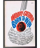 ORIGINAL Vintage 1974 Woody Guthrie Born to Win 4th Print Paperback Book - $49.49