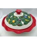 Temp-Tations - Old World Red Figural - Pie plate with Holiday theme Lid ... - $46.04