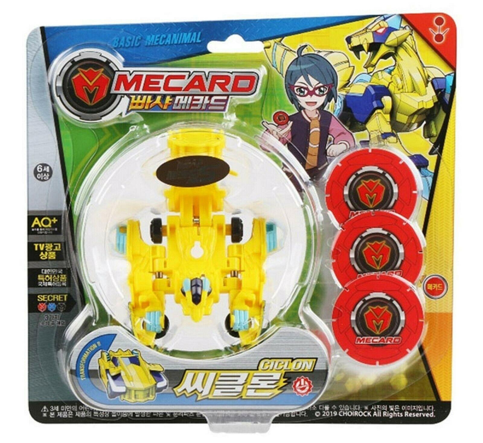 Pasha Mecard Ciclon Mecardimal Turning Car Vehicle Toy Action Figure