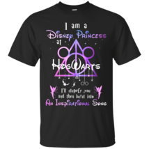 Harry Potter I Am A Disney Princess At Hogwarts Black T-Shirt Men - $17.99+