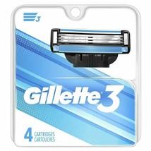 Gillette 3 Razor Blade Refill Cartridges Microfin Skin Guard Cartridges ... - $6.99