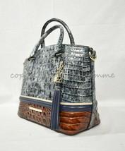 NWT Brahmin Duxbury Leather Satchel/Shoulder Bag in Glacier Eastwood - $315.00