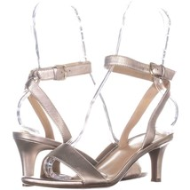 naturalizer Tinda Ankle Strap Sandals 256, Gold Leather, 7 W US - $31.67
