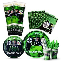 WERNNSAI Video Game Party Tableware Set - Game Theme Party Supplies for ... - $36.44