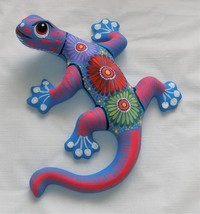 "Ceramic Clay Lizard Salamander Figurine Hand-painted Mexican Wall Art 8""... - $18.81"
