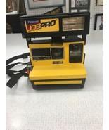 Vintage Polaroid Job Pro Construction Instant Film Camera 600 Yellow Bla... - $49.99