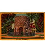 VINTAGE LINEN POSTCARD- ANCIENT VIKING TOWER, OLD STONE MILL, NEWPORT, R... - $2.45