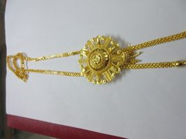 Indian Bollywood Gold Plated Wedding Ethnic Knot Style Fashion Jewelry Necklace image 3