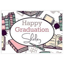 Books Class of 2018 Graduation Banner Personalized Backdrop - £32.75 GBP