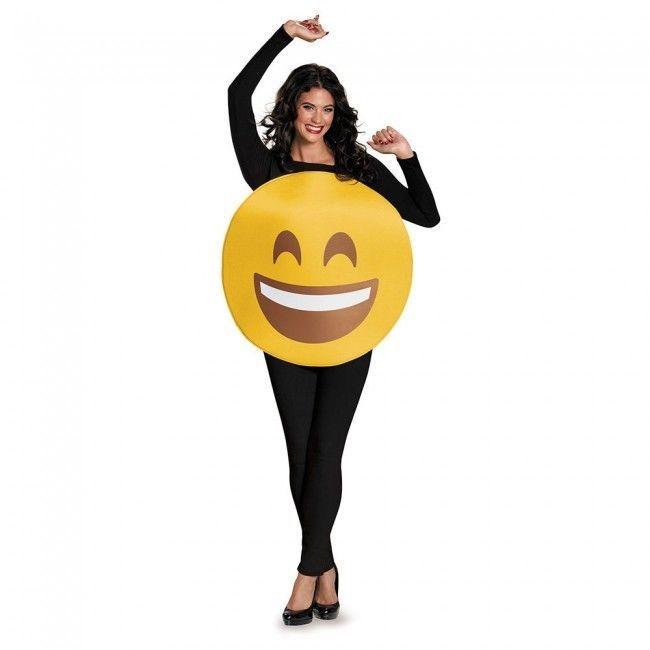 Disguise Smile Face Emoji Emoticon Goofy Adult Unisex Halloween Costume 85325