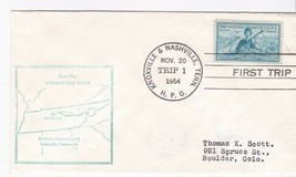 FIRST TRIP H.P.O. KNOXVILLE & NASHVILLE, TENN NOVEMBER 20 1954 - $1.78