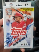 2021 TOPPS SERIES 1 HANGER BOX WALGREENS YELLOW PARALLEL EXCLUSIVE - $19.79