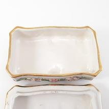 Vintage CAPODIMONTE Cherub Porcelain Trinket Dresser Box image 4