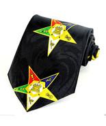 Masonic Stars Mens Neck Tie Masons Necktie Square Compass Freemansons Gi... - $15.79