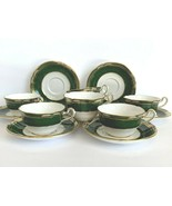 Spode Porcelain Harrogate Cups and Saucers Set of 7 - $375.21