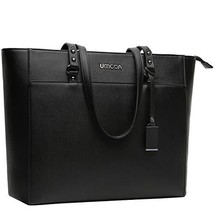 15.6 Inch Briefcase for Women, Laptop Tote Bag Bottom with 4 Metal Feet, Multi F image 1