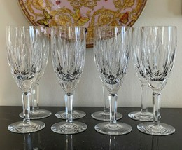 Vintage Waterford Kildare Pattern Fluted Champagne Glasses Set of 8 - $425.00