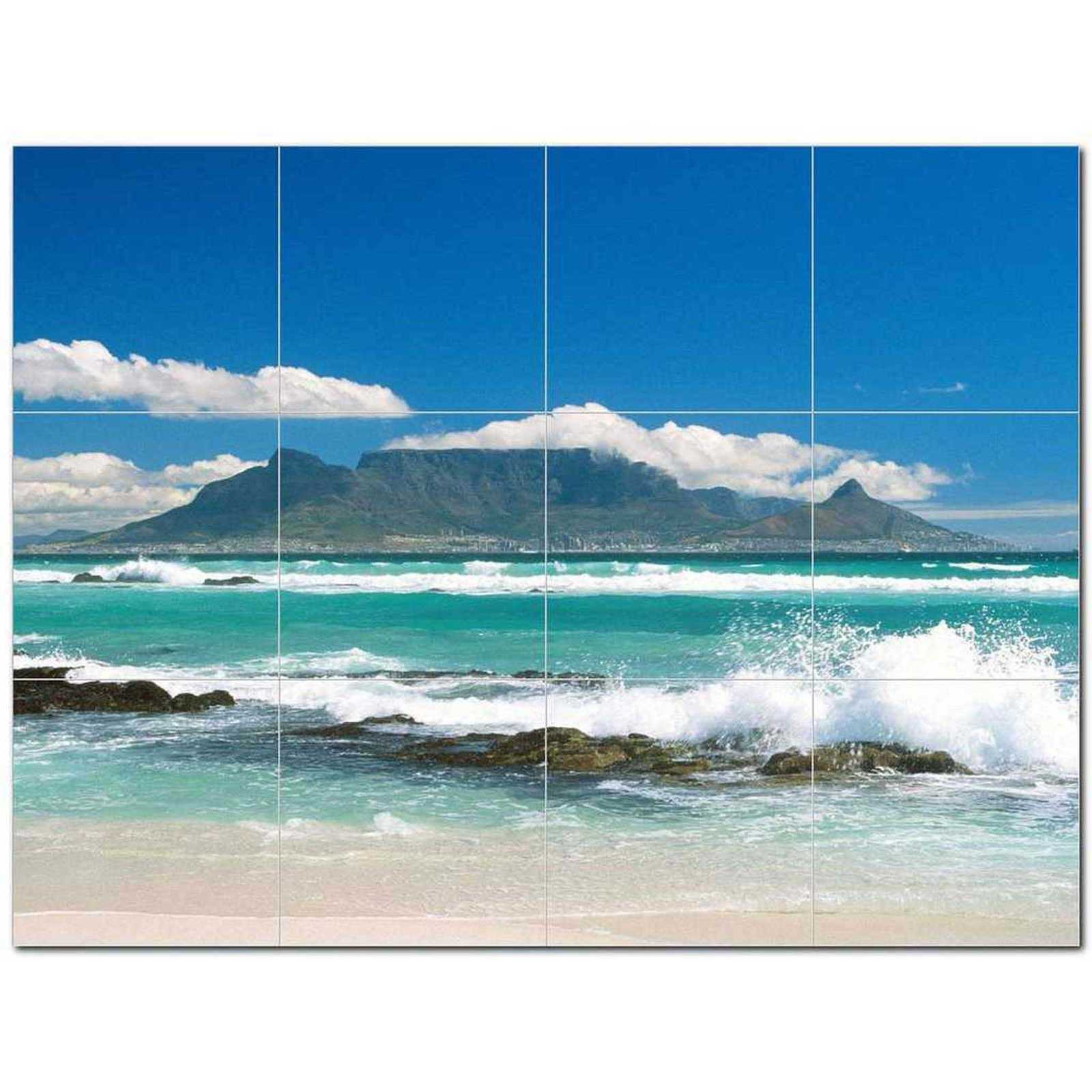 Primary image for Wave Picture Ceramic Tile Mural Kitchen Backsplash Bathroom Shower BAZ406318