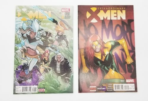 Extraordinary X-men #1 & #2 First Print January 2016 Marvel Comics Ramos Lemire