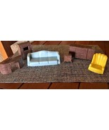 PLASCO VTG Plastic Doll House Furniture Living room Couch Renwal Ideal bx68 - $15.17