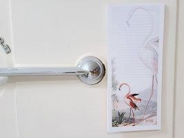 Flamingo Antique Illustration Magnetic Notepad, 50 Sheets image 3