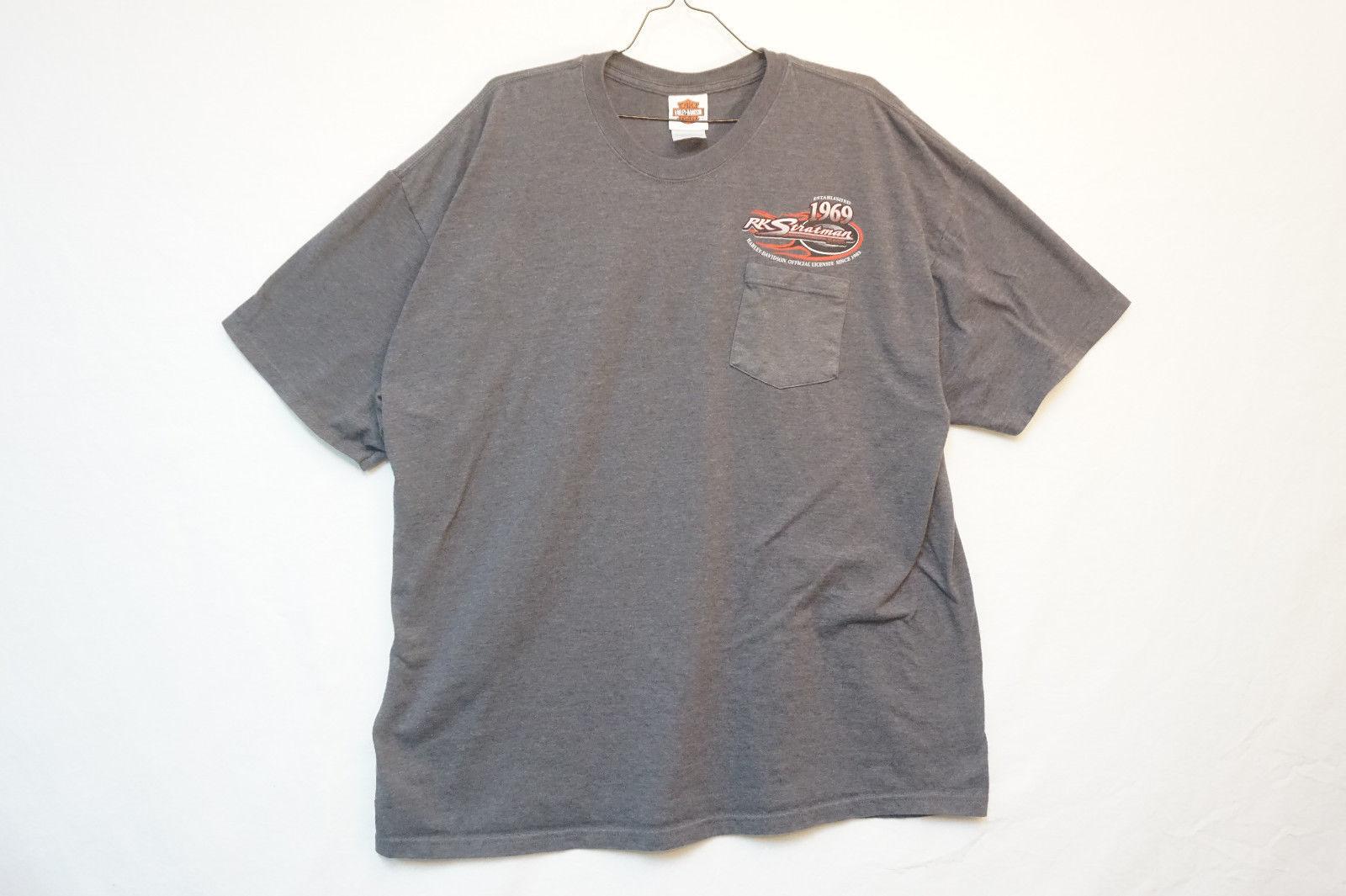 Harley RK Stratman Midweight Cotton T-Shirt, Gray, Men's 2XL 7721 image 2